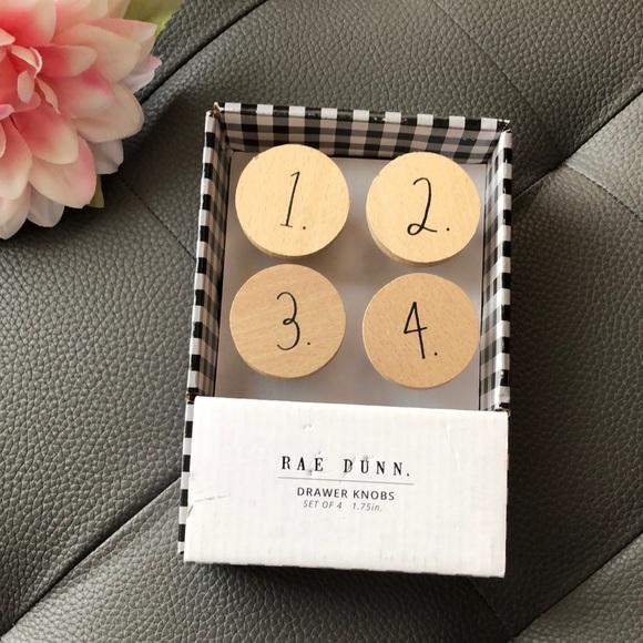 Rae Dunn drawer knobs set of 4